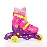 3 Tekerlekli Barbie Ayarlanabilir Çocuk Pateni 33-36
